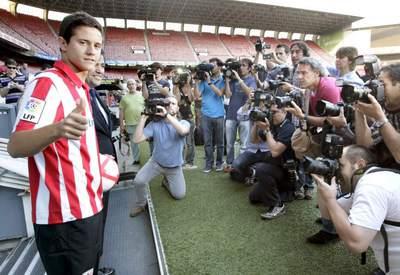 Ander Herrera, en su presentación con el Athletic.