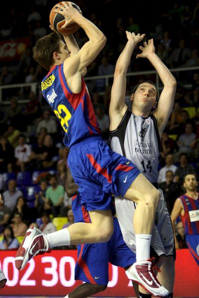 Xavi Rabaseda, en un partido con el Barça Regal, en 2010.