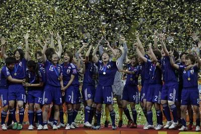 Las jugadoras japonesas celebran el Mundial.