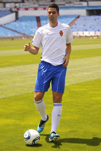 David Mateos, con la camiseta del Zaragoza.