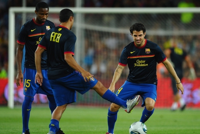 FOTOGALERIA: Calentamiento de Cesc