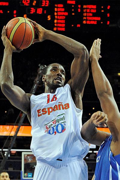 Serge Ibaka, durante la final del Eurobasket ante Francia.