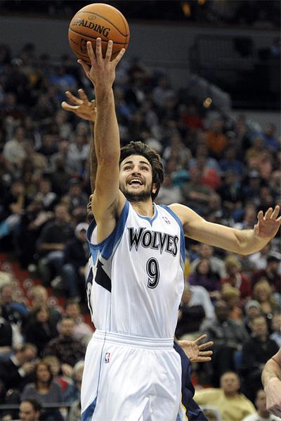 El jugador de Timberwolves Ricky Rubio.