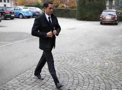 Contador, a la llegada al TAS en el mes de febrero.