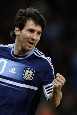 Messi celebra un gol ante Suiza.