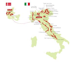 Recorrido del Giro 2012