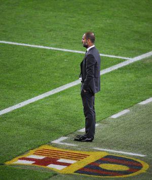 Guardiola, durante el último partido con el Málaga.