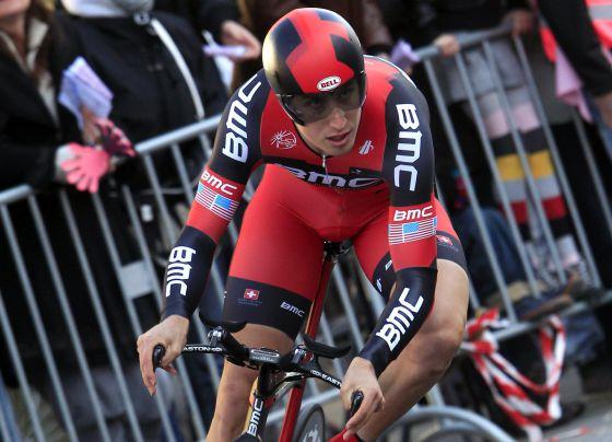 Taylor Phinney, durante el prólogo del Giro.