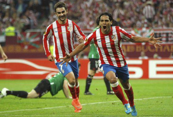 Falcao celebra su segundo gol.