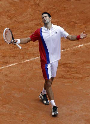 Djokovic, durante el partido ante Nadal.