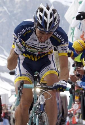De Gendt celebra la victoria en la 20ª etapa del Giro.