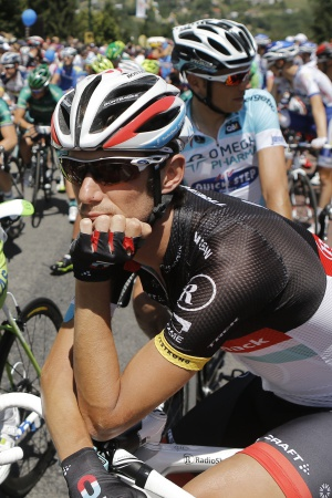 Fränk Schlek, antes de la salida de la undécima etapa del Tour.