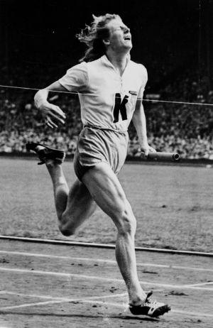 Fanny Blankers-Koen, que ganó cuatro oros en Londres 1948.