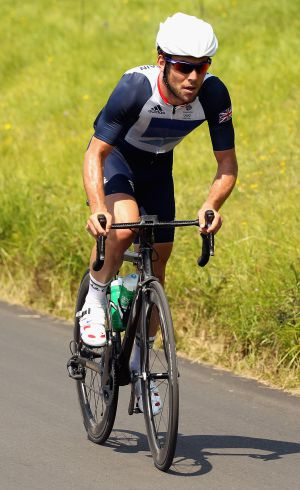 Mark Cavendish rueda en Box Hill.