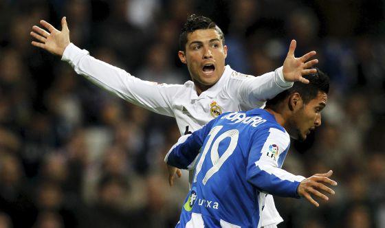 Cristiano Ronaldo, en un partido contra la Real Sociedad.