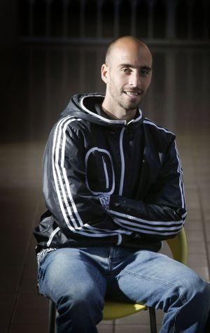 Borja Valero, en la ciudad deportiva del Villarreal.