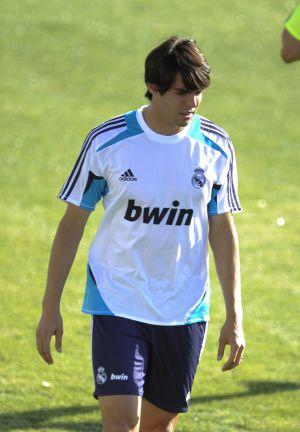 Kaká, en un entrenamiento de este curso.