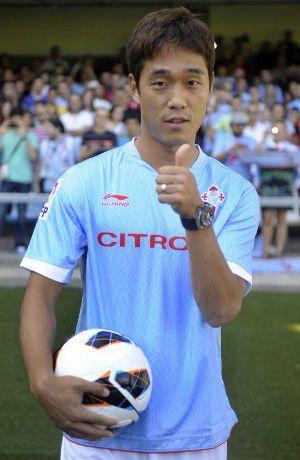 Park Chu-Young, con la camiseta del Celta.