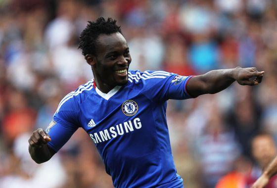 Essien, durante un partido con el Chelsea.