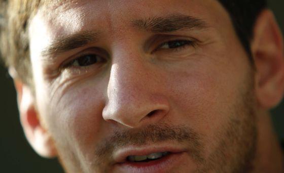 Leo Messi, durante la entrevista.