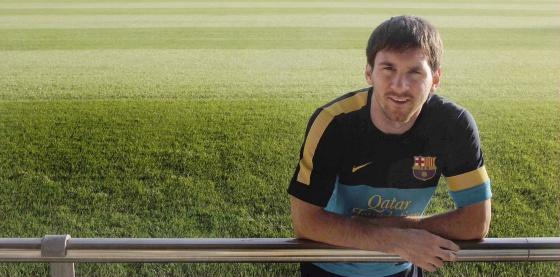 Leo Messi posa para la entrevista con EL PAÍS.