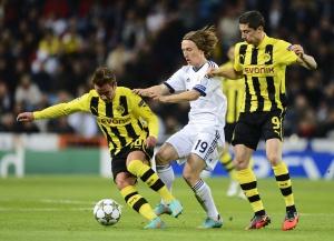 Modric durante el partido contra el Borussia.