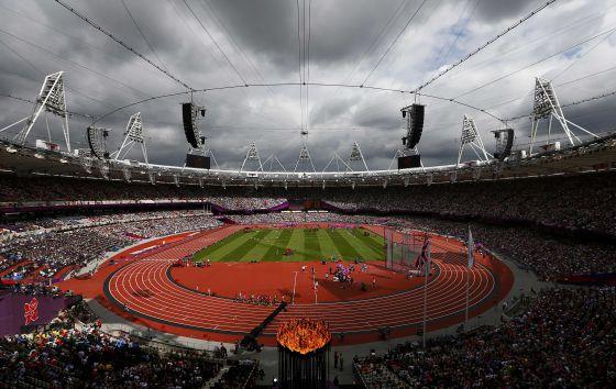 El estadio olímpico de Londres, durante una prueba.