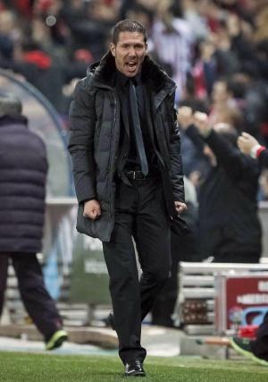 Simeone, durante el duelo ante el Sevilla.