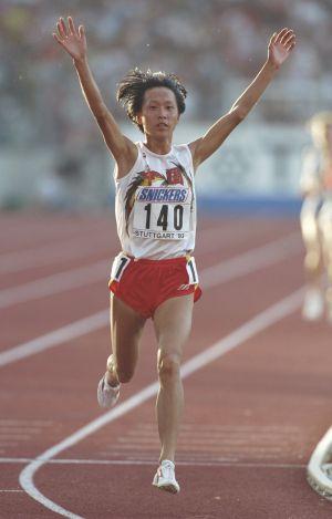 La atleta china, en los Mundiales de 1993.
