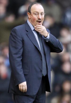 Benítez, durante el partido ante el West Ham.