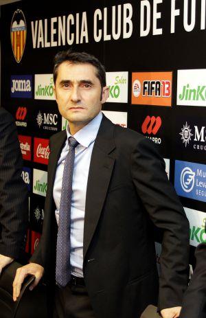 Valverde, en su presentación como técnico del Valencia.