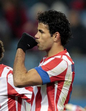 Diego Costa celebra un gol al Getafe.