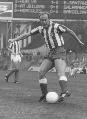 Marcial, con el Atlético en un partido de la temporada 1978-79