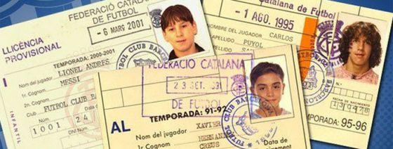 Fichas de Messi, Xavi y Puyol