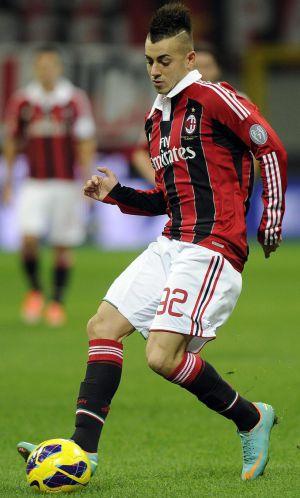 El Shaarawy, durante un partido con el Milan
