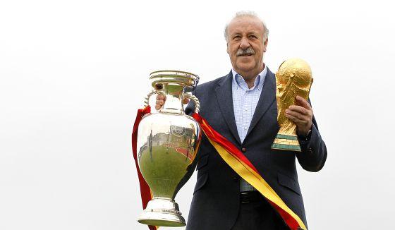 Del Bosque, con la Eurocopa y la Copa del Mundo