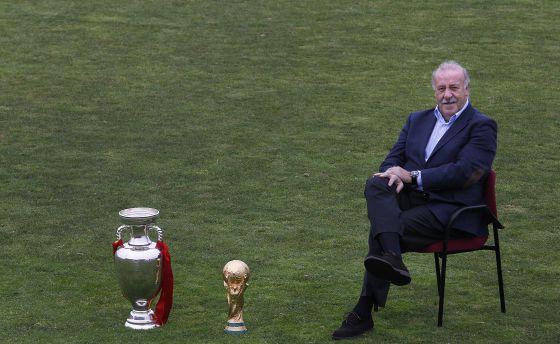 Del Bosque, junto a la Eurocopa de 2012 y la Copa del Mundo de 2010.
