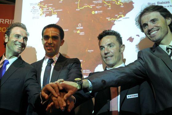 Valverde, Contador, Purito y Samuel Sánchez.