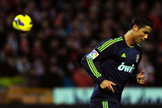 Cristiano Ronaldo, en el partido ante el Granada.