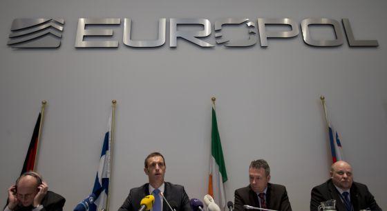 Imagen de la reunión de la Europol en La Haya.
