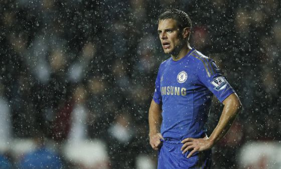 Azpilicueta, en un partido con el Chelsea.