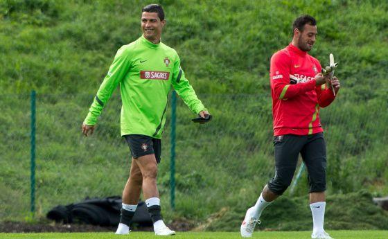 Beto y Ronaldo, durante la Eurocopa de 2012.