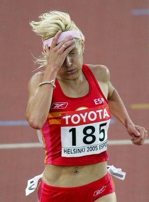 Marta Domínguez en el Mundial de Helsinki 2005.