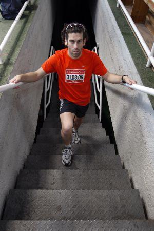 César Pérez, en un entrenamiento en 2008.