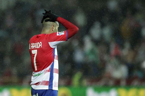 Carlos Aranda, durante el partido contra el Levante.