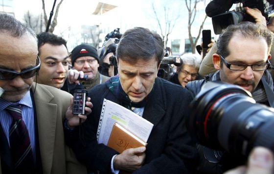 Eufemiano Fuentes, a la llegada al juzgado.