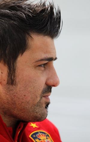 David Villa, en un instante de la entrevista con EL PAÍS.