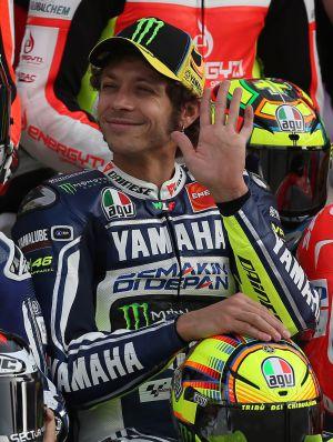 Rossi, sonriente en Catar.