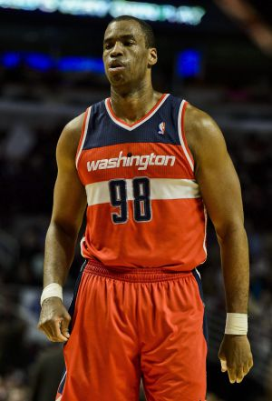 Jason Collins, con los Wizards.
