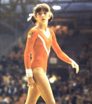 Gloria Viseras, en un campeonato internacional de gimnasia en 1978.